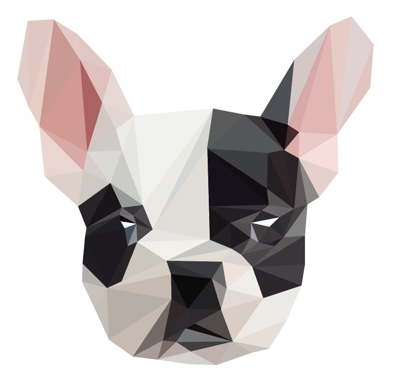 polygon portrait dog