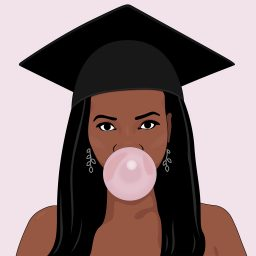 graduation bubble gum